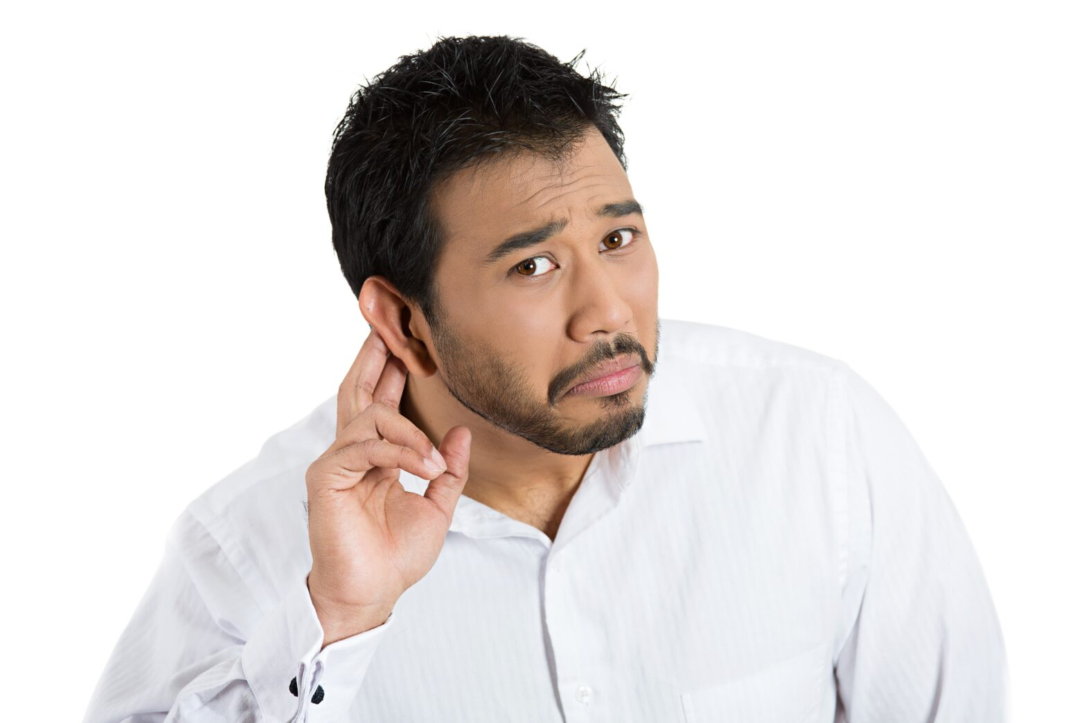 Man trying to hear
